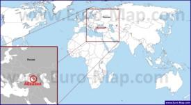 Абхазия на карте мира
