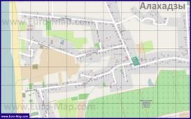 Подробная карта Алахадзы с улицами и домами
