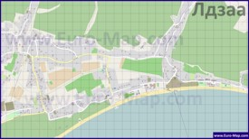 Подробная карта Лдзаа с улицами и домами