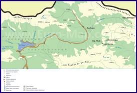 Карта Рицинского заповедника