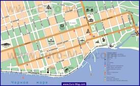 Карта центра города Сухум