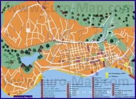 Туристическая карта Сухума с достопримечательностями