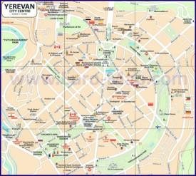 Карта центра Еревана