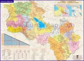 Подробная карта Армении Нагорного Карабаха с городами