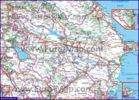 Автомобильная карта дорог Азербайджана