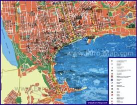 Карта Баку с достопримечательностями на русском языке