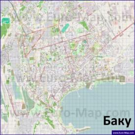 Подробная карта города Баку