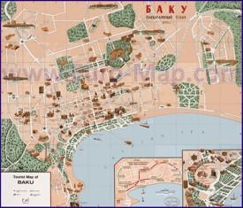 Туристическая карта Баку
