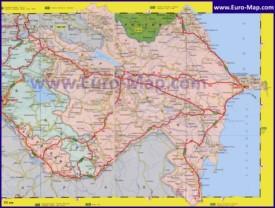 Карта Азербайджана на русском языке