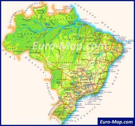 Карта дорог Бразилии