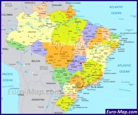 Политическая карта Бразилии