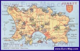 Туристическая карта острова Джерси