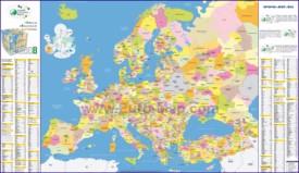 Подробная карта регионов Европы