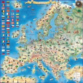 Туристическая карта Европы