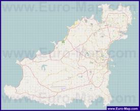 Подробная карта острова Гернси