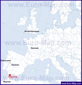 Гибралтар на карте мира