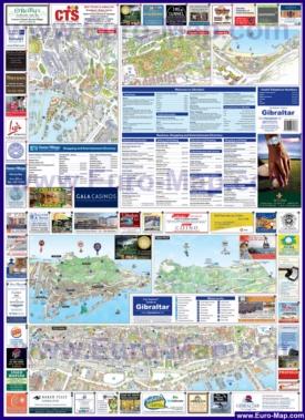 Туристическая карта Гибралтара