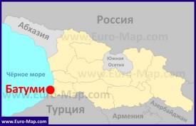Батуми на карте Грузии