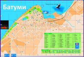 Карта Батуми на русском языке