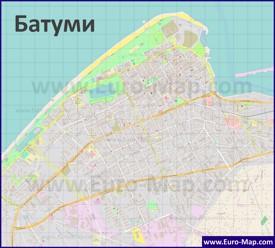 Подробная карта города Батуми