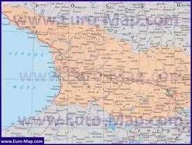 Карта Грузии на русском языке
