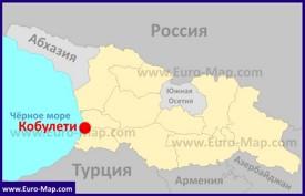 Кобулети на карте Грузии