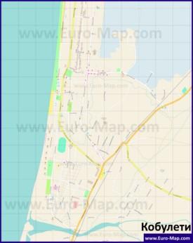 Подробная карта города Кобулети