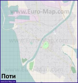 Подробная карта города Поти