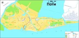 Туристическая карта Поти