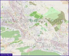 Подробная карта города Тбилиси
