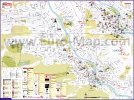 Туристическая карта Тбилиси с достопримечательностями