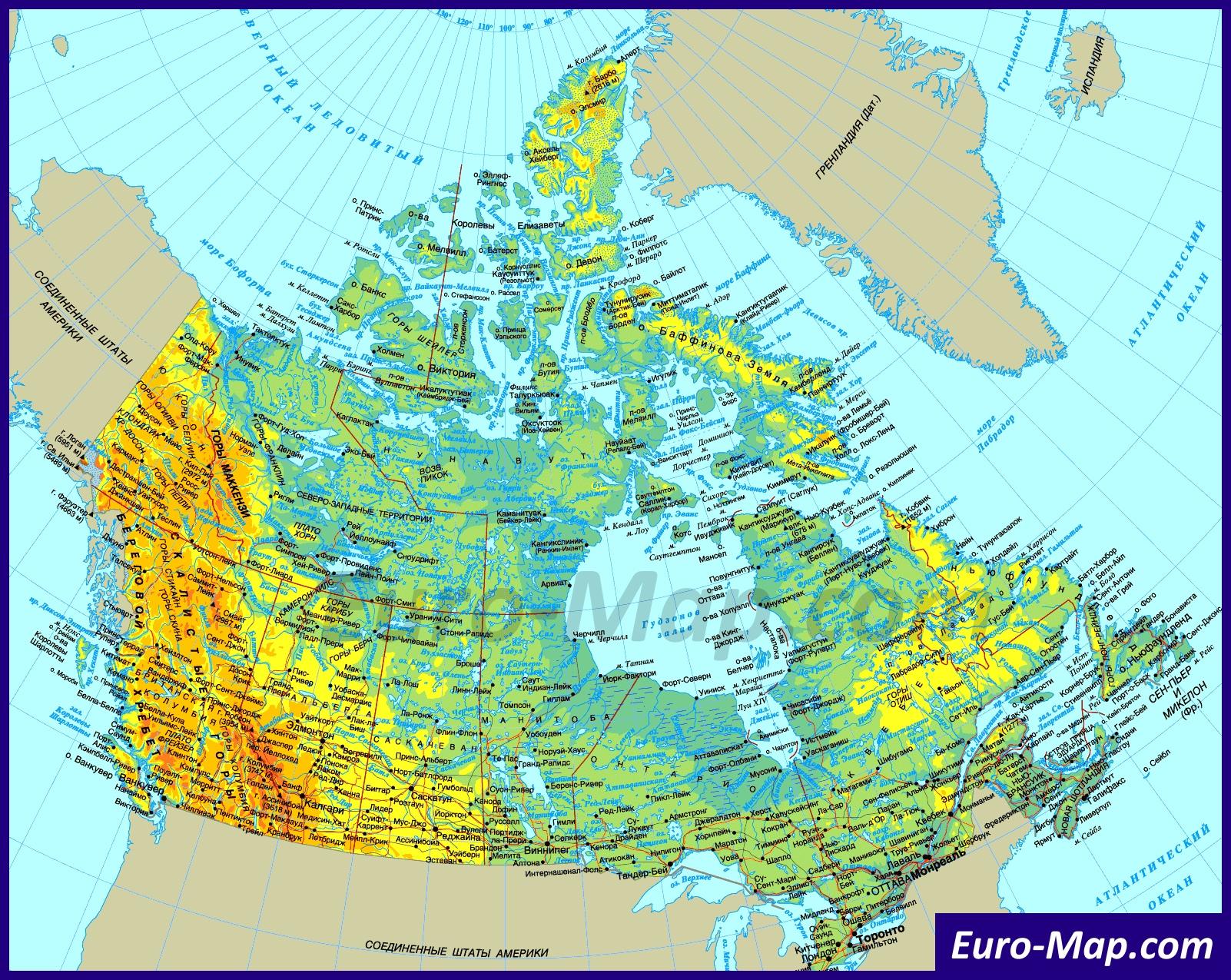 Карта канады аренда дома в дубае на месяц