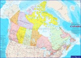 Подробная карта Канады с городами