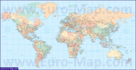 Карта мира с городами