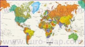 Политическая карта мира со странами
