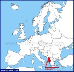 Албания на карте Европы и Мира