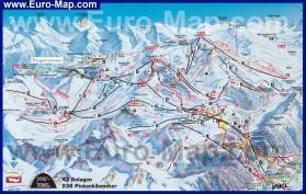 Подробная карта горнолыжного курорта Ишгль
