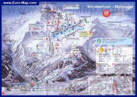 Подробная карта горнолыжного курорта Капрун