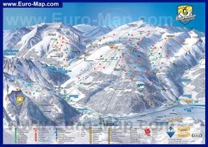Подробная карта горнолыжного курорта Майрхофен