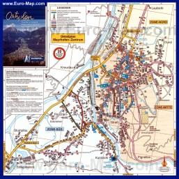 Туристическая карта Майрхофена с отелями