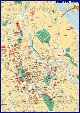 Карта города Вена с достопримечательностями