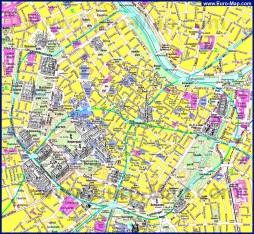 Туристическая карта центра Вены с достопримечательностями
