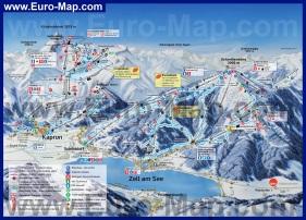 Подробная карта горнолыжного курорта Цель-ам-Зее