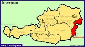 Земля Бургенланд на карте Австрии