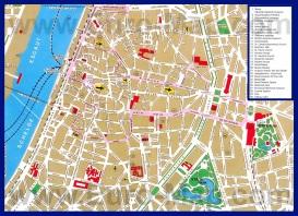 Карта Антверпена с достопримечательностями
