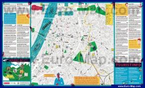 Подробная туристическая карта Антверпена