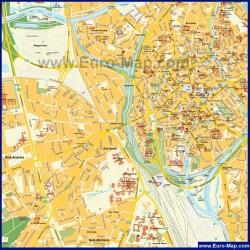 Карта города Брюгге