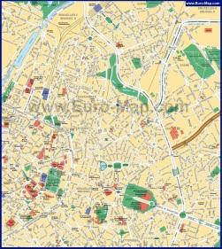 Туристическая карта центра Брюсселя