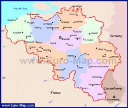 Карта Бельгии по провинциям