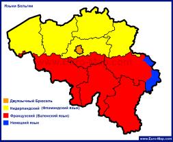 Карта языков Бельгии